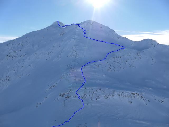 Foto: Wolfgang Lauschensky / Ski Tour / Großer Sadnig / Anstieg aus der Sadnigscharte / 07.01.2011 18:30:44