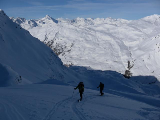 Foto: Wolfgang Lauschensky / Ski Tour / Großer Sadnig / Nordhang mit Glocknerblick / 07.01.2011 18:28:24