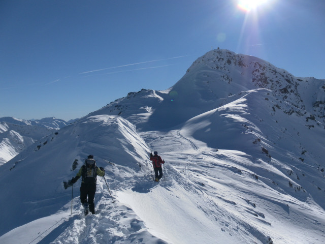 Foto: Wolfgang Lauschensky / Ski Tour / Großer Sadnig / flacher Nordgratrücken zum Gipfelstock / 07.01.2011 18:28:00
