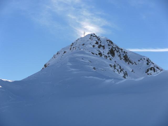 Foto: Wolfgang Lauschensky / Ski Tour / Großer Sadnig / steiler Gipfelaufbau / 07.01.2011 18:27:49