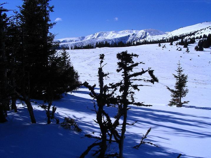 Foto: Andreas Koller / Ski Tour / Tour Goldhaube: Von der Weinebene auf die Koralpe (2140m) / Weit ist der Anstieg nach S zum Großen Speikkogel / 20.03.2008 03:21:21