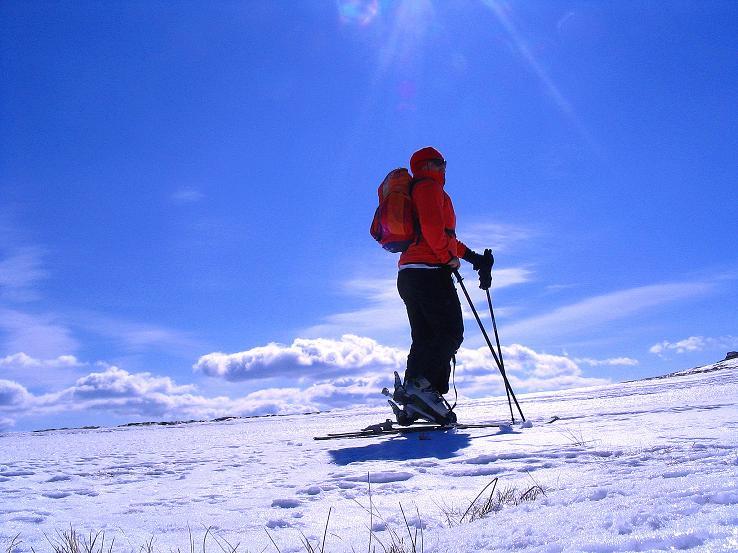 Foto: Andreas Koller / Ski Tour / Tour Goldhaube: Von der Weinebene auf die Koralpe (2140m) / Weite Landschaft im Aufstieg zur Koralpe / 20.03.2008 03:20:21