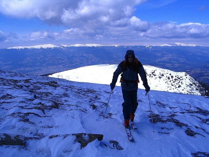 Foto: Andreas Koller / Ski Tour / Tour Goldhaube: Von der Weinebene auf die Koralpe (2140m) / Die letzten Meter zum Gipfel der Hühnerstütze / 20.03.2008 03:17:07