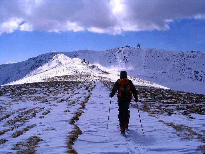 Foto: Andreas Koller / Ski Tour / Tour Goldhaube: Von der Weinebene auf die Koralpe (2140m) / Am Kamm dem Speikkogel entgegen / 20.03.2008 03:16:40