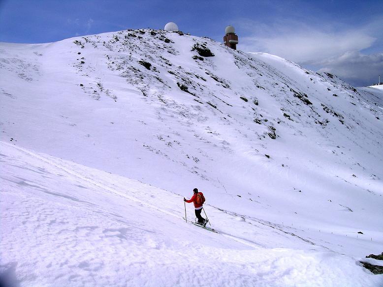 Foto: Andreas Koller / Ski Tour / Tour Goldhaube: Von der Weinebene auf die Koralpe (2140m) / Schon sehr nahe am Gipfel / 20.03.2008 03:16:01
