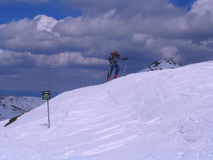Foto: Andreas Koller / Ski Tour / Tour Goldhaube: Von der Weinebene auf die Koralpe (2140m) / Am Kamm beim Seespitz (2066 m) / 20.03.2008 03:14:55