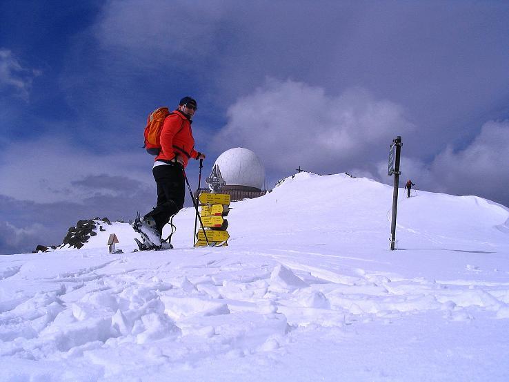 Foto: Andreas Koller / Ski Tour / Tour Goldhaube: Von der Weinebene auf die Koralpe (2140m) / Kurz unterhalb des Speikkogel-Gipfels / 20.03.2008 03:12:51