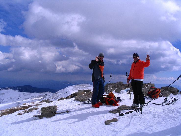 Foto: Andreas Koller / Ski Tour / Tour Goldhaube: Von der Weinebene auf die Koralpe (2140m) / Am Speikkogel-Gipfel / 20.03.2008 03:11:19