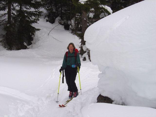 Foto: Manfred Karl / Ski Tour / Namloser Wetterspitze, 2553 m / Im kurzen Waldstück nach der Fallerscheinalpe / 28.03.2008 23:39:00