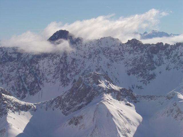 Foto: Manfred Karl / Ski Tour / Namloser Wetterspitze, 2553 m / Blick nach Süden auf einen Großen der Lechtaler Alpen / 28.03.2008 23:31:19