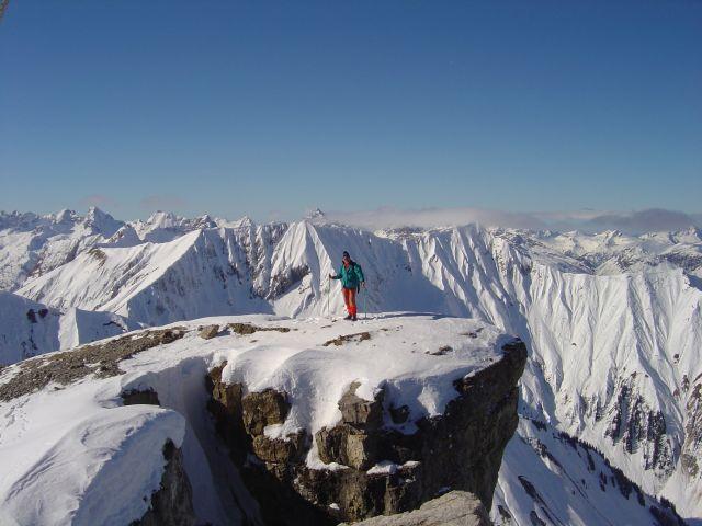 Foto: Manfred Karl / Ski Tour / Namloser Wetterspitze, 2553 m / Vorgipfel / 28.03.2008 23:26:35