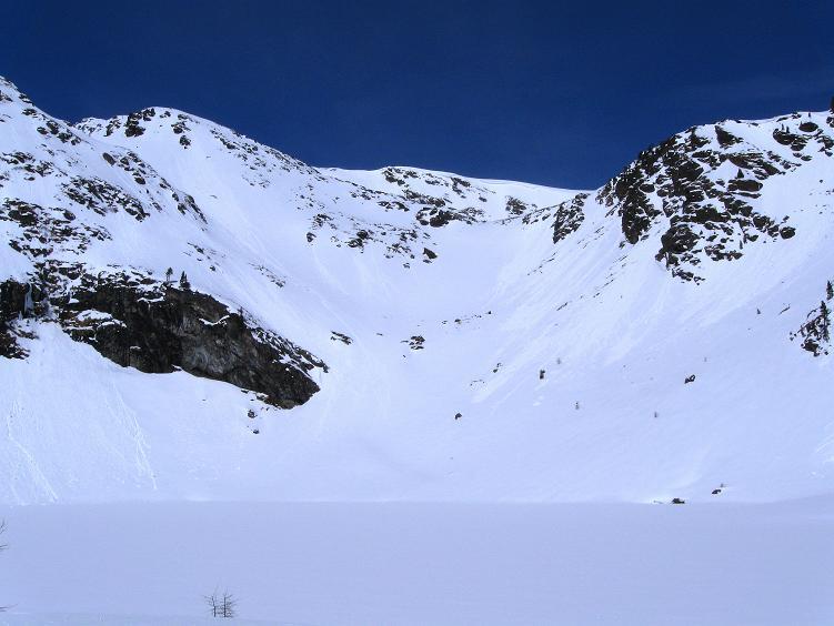 Foto: Andreas Koller / Ski Tour / Über die Zwieflerseen auf den Zinken (2191m) / Der Obere Zwieflersee / 31.03.2008 18:50:11