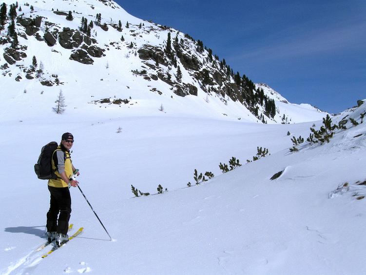 Foto: Andreas Koller / Ski Tour / Über die Zwieflerseen auf den Zinken (2191m) / Beim Oberen Zwieflersee / 31.03.2008 18:49:54