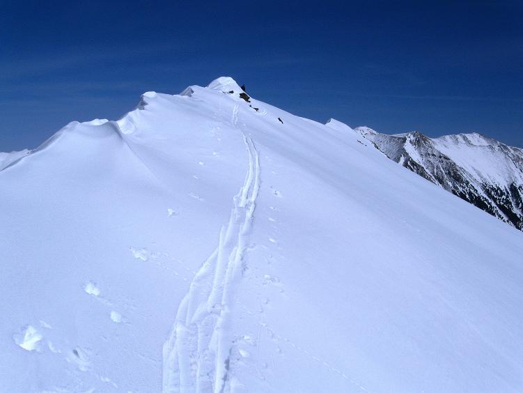 Foto: Andreas Koller / Ski Tour / Über die Zwieflerseen auf den Zinken (2191m) / Der W-Grat / 31.03.2008 18:42:22