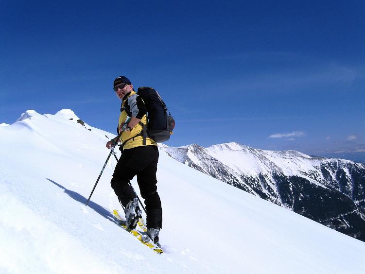 Foto: Andreas Koller / Ski Tour / Über die Zwieflerseen auf den Zinken (2191m) / Anstieg am W-Grat / 31.03.2008 18:42:11