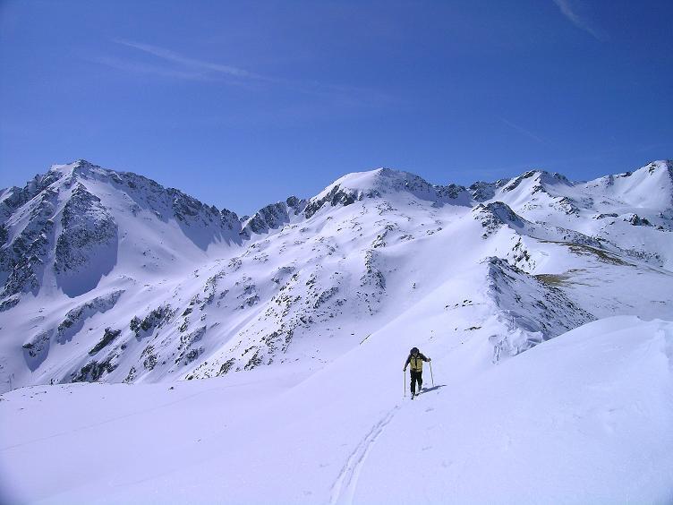 Foto: Andreas Koller / Ski Tour / Über die Zwieflerseen auf den Zinken (2191m) / Aufstieg im oberen Bereich / 31.03.2008 18:41:19