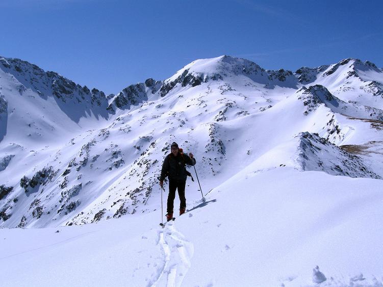 Foto: Andreas Koller / Ski Tour / Über die Zwieflerseen auf den Zinken (2191m) / Die letzten Meter zum Gipfel / 31.03.2008 18:40:24