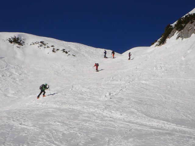 Foto: Manfred Karl / Ski Tour / Hochkarfelderkopf, 2219 m / Meist herrscht reger Betrieb / 04.04.2008 22:52:07