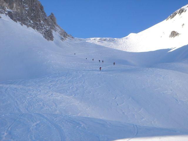 Foto: Manfred Karl / Ski Tour / Hochkarfelderkopf, 2219 m / Der Schartenhang / 04.04.2008 22:48:28