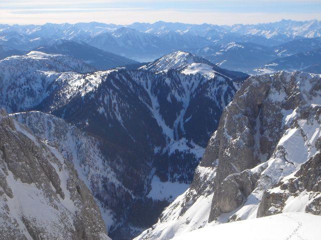 Foto: Manfred Karl / Ski Tour / Hochkarfelderkopf, 2219 m / Ausblick nach Süden in die Hohen Tauern / 04.04.2008 22:47:08