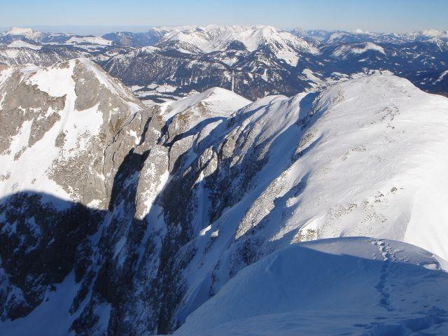 Foto: Manfred Karl / Ski Tour / Hochkarfelderkopf, 2219 m / Blick zum Gamsfeld / 04.04.2008 22:46:32