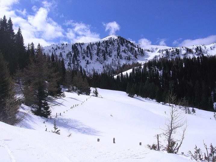 Foto: Andreas Koller / Ski Tour / Vom Bundschuh auf die Schwarzwand (2214 m) / Richtung Morawitzeralm / 06.04.2008 23:53:36