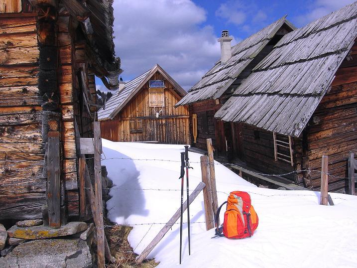 Foto: Andreas Koller / Ski Tour / Vom Bundschuh auf die Schwarzwand (2214 m) / Bei der Morawitzeralm / 06.04.2008 23:50:51