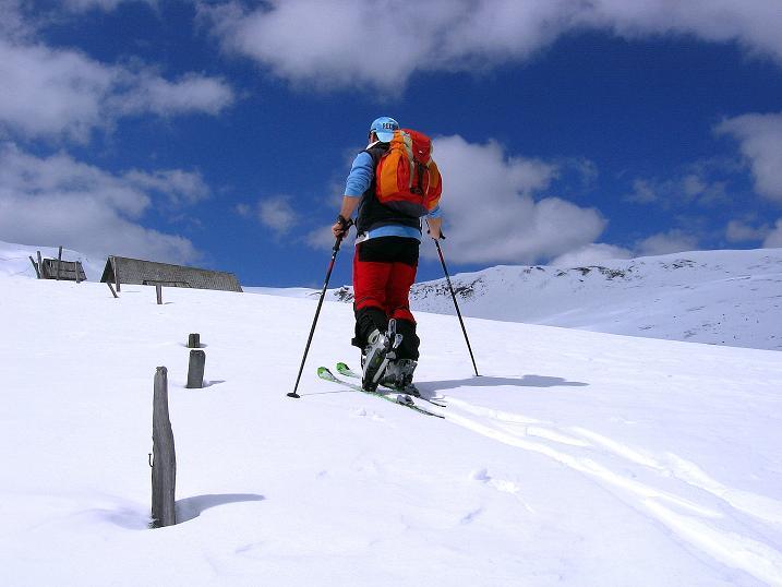 Foto: Andreas Koller / Ski Tour / Vom Bundschuh auf die Schwarzwand (2214 m) / Anstieg zur Bruggeralm / 06.04.2008 23:47:59
