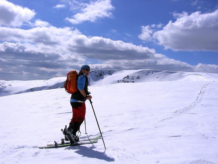 Foto: Andreas Koller / Ski Tour / Vom Bundschuh auf die Schwarzwand (2214 m) / Am Kamm zur Schwarzwand / 06.04.2008 23:40:56