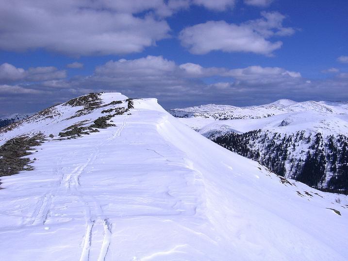 Foto: Andreas Koller / Ski Tour / Vom Bundschuh auf die Schwarzwand (2214 m) / Der Anstiegskamm  / 06.04.2008 23:37:06