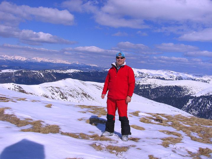Foto: Andreas Koller / Ski Tour / Vom Bundschuh auf die Schwarzwand (2214 m) / Vom Gipfel erkennt man den Aufstiegskamm / 06.04.2008 23:22:14
