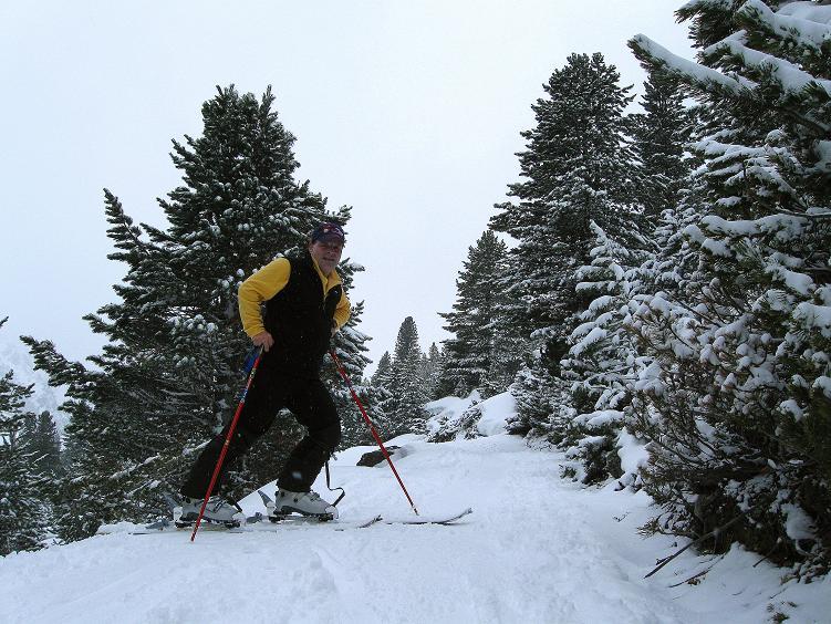 Foto: Andreas Koller / Ski Tour / Hintere Schwärze (3628m) - Topziel der Martin Busch Hütte / Aufstieg durchs Spiegeltal zur Martin Busch Hütte / 15.04.2008 19:23:12