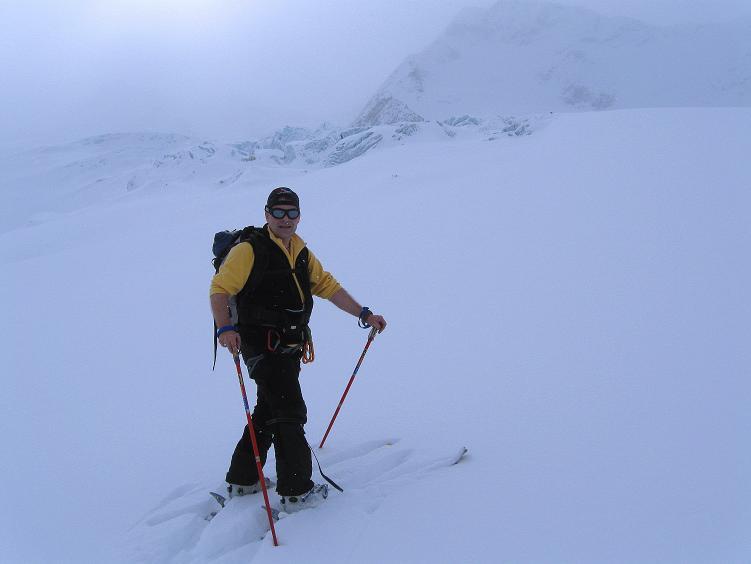 Foto: Andreas Koller / Ski Tour / Hintere Schwärze (3628m) - Topziel der Martin Busch Hütte / Am Marzellferner mit Eisbruch / 15.04.2008 19:21:57
