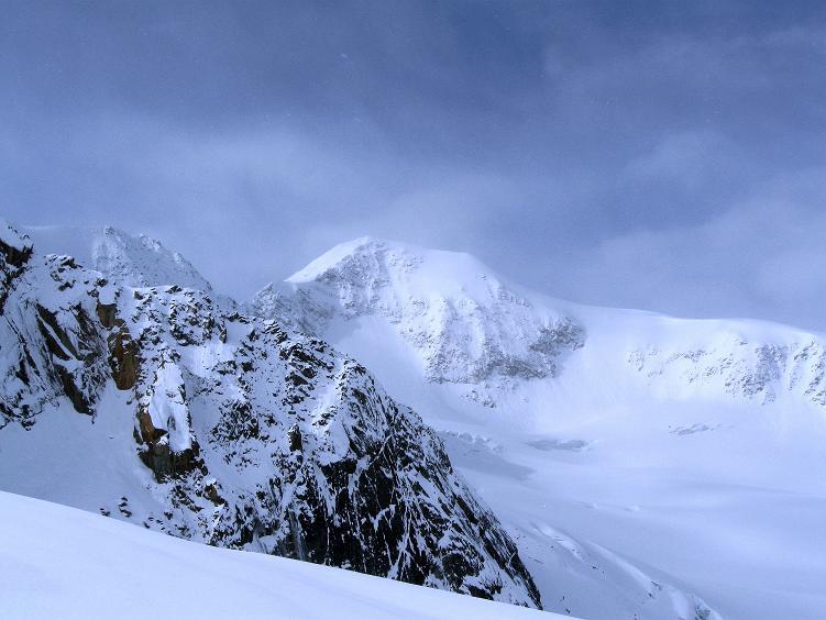 Foto: Andreas Koller / Ski Tour / Hintere Schwärze (3628m) - Topziel der Martin Busch Hütte / Blick nach SW zum Similaun (3606 m) / 15.04.2008 19:20:09