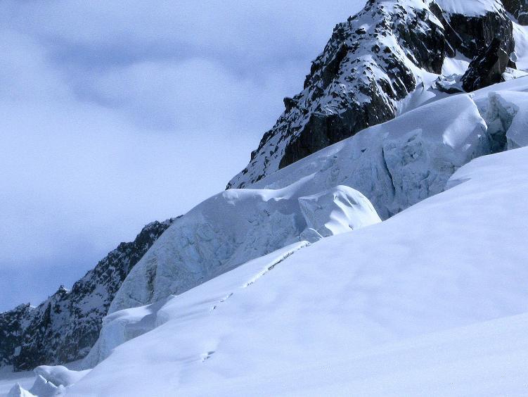 Foto: Andreas Koller / Ski Tour / Hintere Schwärze (3628m) - Topziel der Martin Busch Hütte / Gletscherbruch am Marzellferner / 15.04.2008 19:18:06