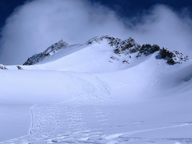 Foto: Andreas Koller / Ski Tour / Hintere Schwärze (3628m) - Topziel der Martin Busch Hütte / Der steile Aufschwung zur Hinteren Schwärze / 15.04.2008 19:09:19
