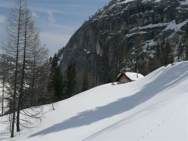 Foto: Manfred Karl / Ski Tour / Kahlersberg (2350m) / Jagdhütte bei der Hinteren Schlumalm / 18.04.2008 23:49:20