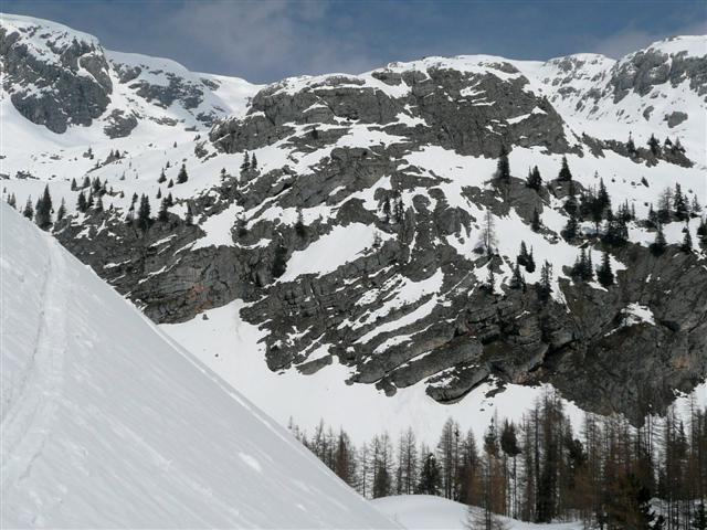 Foto: Manfred Karl / Ski Tour / Kahlersberg (2350m) / Wiederaufstieg auf Höhe der Jagdhütte / 18.04.2008 23:48:50