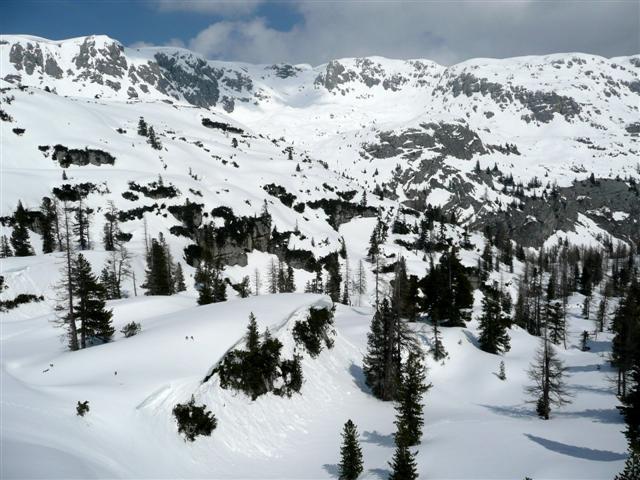 Foto: Manfred Karl / Ski Tour / Kahlersberg (2350m) / Rückblick zum Schneibstein / 18.04.2008 23:46:57