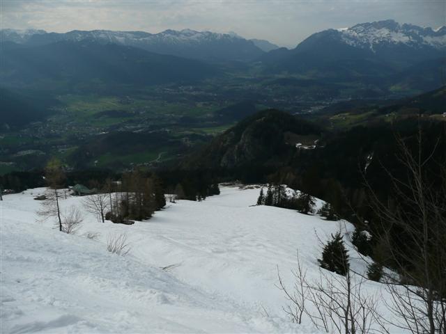 Foto: Manfred Karl / Ski Tour / Kahlersberg (2350m) / Letzter Hang - Jennerpiste / 18.04.2008 23:32:04