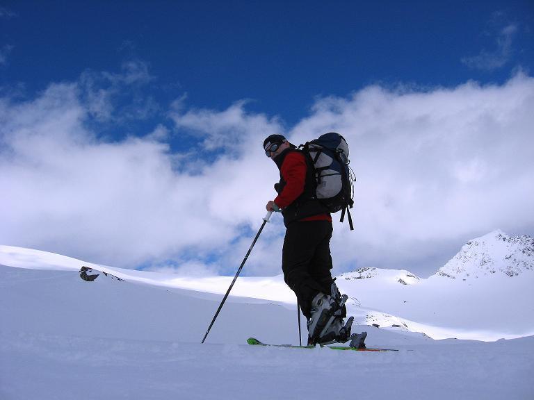 Foto: Andreas Koller / Ski Tour / Haute Route am Venediger (3674 m) / Anstieg mit Blick auf das Mullwitzkees / 21.04.2008 15:20:47