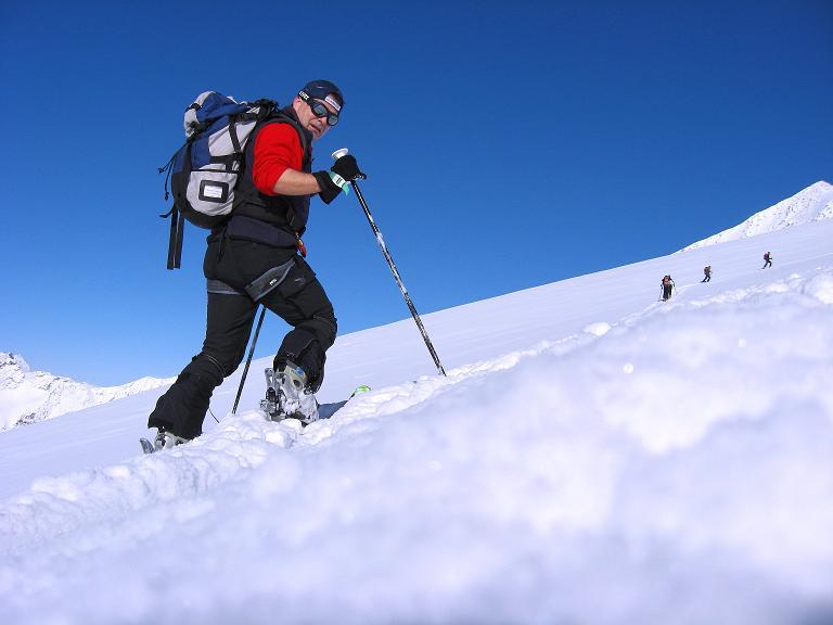 Foto: Andreas Koller / Ski Tour / Haute Route am Venediger (3674 m) / Anstieg am Rainerkees / 21.04.2008 15:14:00