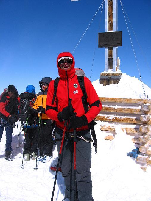 Foto: Andreas Koller / Ski Tour / Haute Route am Venediger (3674 m) / Beim Venediger-Kreuz / 21.04.2008 15:08:58