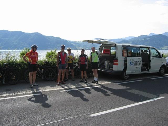 Foto: Jürgen Lindlbauer / Mountainbike Tour / Von Attersee auf die Hochplettspitze / Start am öffentlichen Badeplatz von Attersee / 06.05.2008 22:21:56
