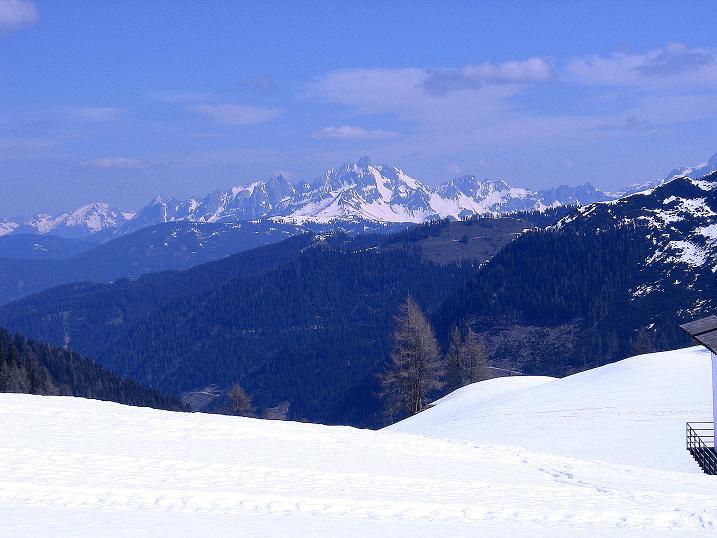 Foto: Andreas Koller / Wander Tour / Vom Zauchensee auf den Gamskogel (2186m) / Blick nach NO zur Bischofsmütze (2459 m) / 16.05.2008 01:46:08