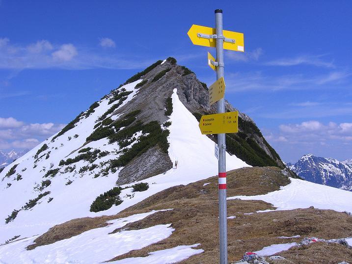 Foto: Andreas Koller / Wander Tour / Vom Zauchensee auf den Gamskogel (2186m) / Im Schneekarsattel gegen Gamskogel / 16.05.2008 01:44:01