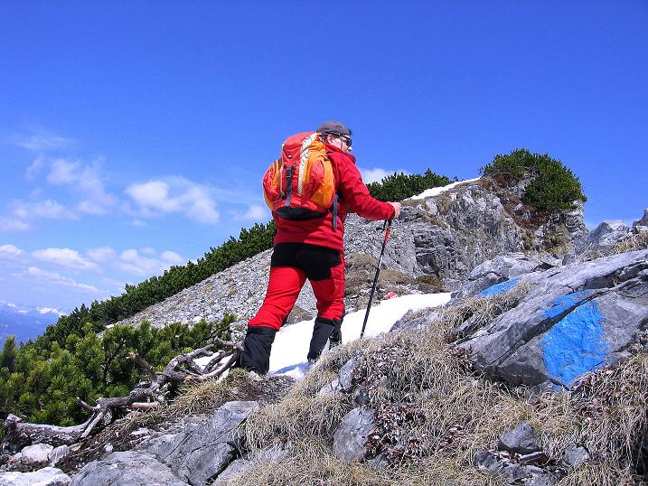 Foto: Andreas Koller / Wander Tour / Vom Zauchensee auf den Gamskogel (2186m) / Anstieg am harmlosen Gamskogel SW-Grat / 16.05.2008 01:43:41