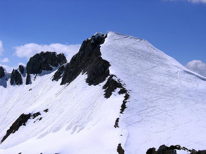Foto: Andreas Koller / Wander Tour / Vom Zauchensee auf den Gamskogel (2186m) / Blick nach W auf den Schwarzkopf (2263 m) / 16.05.2008 01:42:14
