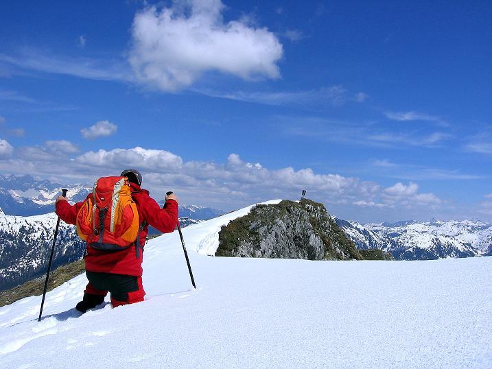 Foto: Andreas Koller / Wander Tour / Vom Zauchensee auf den Gamskogel (2186m) / Noch viel Schnee am Gamskogel / 16.05.2008 01:41:52
