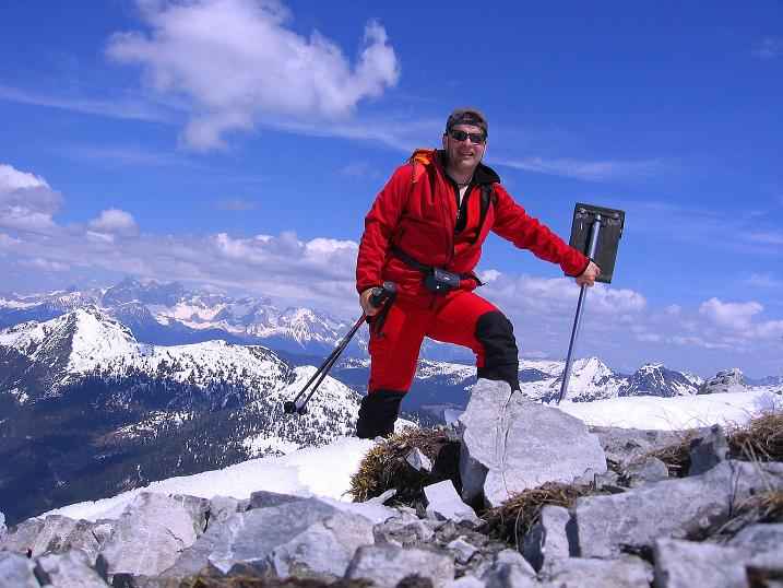 Foto: Andreas Koller / Wander Tour / Vom Zauchensee auf den Gamskogel (2186m) / Am Gipfel de´s Gamskogel / 16.05.2008 01:41:18